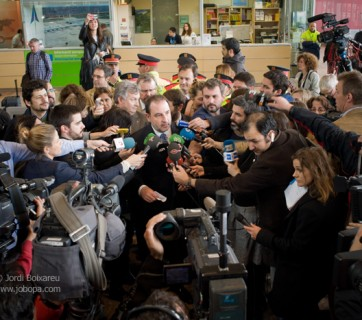 Spain, Barcelona Airport - Germanwings Plane Crash.