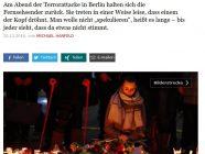 Lob und Kritik zur Medienberichterstattung über den Anschlag (Screenshot).