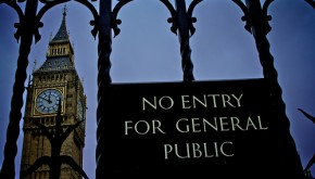 no entry for general public